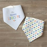You Are Loved Personalized Bandana Bibs- Set of 2 - 17314-BB