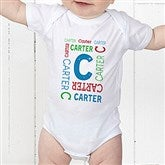 Repeating Name Personalized Baby Bodysuit - 17315-CBB