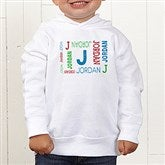 Repeating Name Personalized Toddler Hooded Sweatshirt - 17315-THS