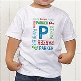 Repeating Name Personalized Toddler T-Shirt - 17315-TT