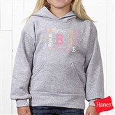 Repeating Name Personalized Hanes® Youth Hooded Sweatshirt - 17315-YHS