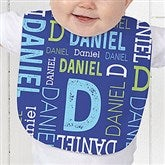 Repeating Name Personalized Baby Bib - 17315-B
