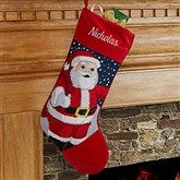 Santa Personalized Needlepoint Stocking - 17317-S