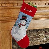 Snowman Personalized Needlepoint Stocking - 17317-SM
