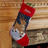 Reindeer Personalized Needlepoint Stocking - 17317-R