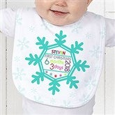 Baby's 1st Christmas Personalized Baby Bib - 17318-B