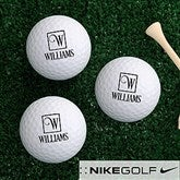 Square Monogram Personalized Golf Ball Set - Nike Mojo® Extremely Long - 17321-NM
