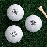 Retirement Personalized Golf Ball Set - Non Branded - 17323-B