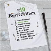 Top 10 Golfers Personalized Golf Towel - 17325