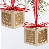 A Grandparent is Born Personalized Wood Block Ornament - 17327D