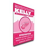 Pink NHL Baby Birth Announcement Personalized Canvas - 15x20 - 17357D-15x20