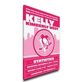 Pink NHL Baby Birth Announcement Personalized Canvas - 21x28 - 17357D-21x28