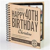 Vintage Age Birthday Personalized Photo Album - 17366
