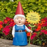 Gwen Garden Gnome with Personalized Greeting Sign - 17369