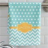 Preppy Chic Personalized Hand Towel - 17373