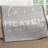Heaven In Our Home Personalized Woven Throw - 17382