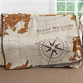 Compass Inspired Graduation Personalized Woven Throw - 17383