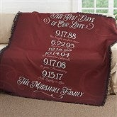 Our Best Days Personalized Family Woven Throw - 17385