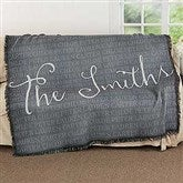 Together Forever Personalized Woven Throw - 17387