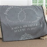 Forever & Ever Personalized Wedding Woven Throw - 17390
