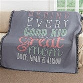 Loving Words To Her Personalized Woven Throw - 17391