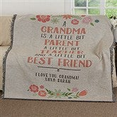 My Grandma, My Friend Personalized Woven Throw - 17395
