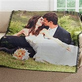 Picture It! Wedding Personalized Woven Throw - 17397