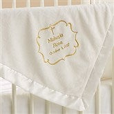 Joyful Blessing Embroidered Keepsake Blanket- Ivory - 17402-I