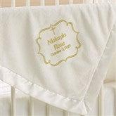 Joyful Blessing Embroidered Keepsake Blanket- Ivory - 17402-I