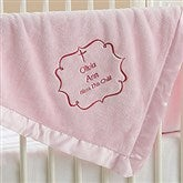 Joyful Blessing Embroidered Keepsake Blanket- Pink - 17402-P