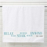 Rest & Relaxation Personalized Bath Towel - 17403
