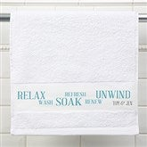 Rest & Relaxation Personalized Hand Towel - 17404