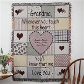 Her Special Touch Embroidered Tapestry Afghan - Grandma - 1740D-G