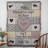Her Special Touch Embroidered Tapestry Afghan - Mom - 1740D-M
