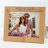 Honeymoon Memories Personalized Picture Frame- 8x10 - 17414-L