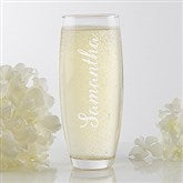 Signature Toast Personalized Stemless Champagne Flute - 17415