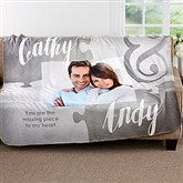 Missing Piece To My Heart Personalized Premium 50x60 Sherpa Blanket - 17422