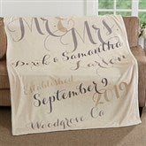 Mr. & Mrs. Personalized 60x80 Fleece Blanket - 17424-L