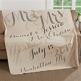 Mr. & Mrs. Personalized Premium 50x60 Sherpa Blanket - 17425