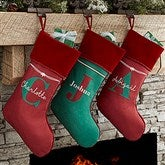My Name & Monogram Personalized Christmas Stockings - 17440