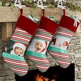 Candy Cane Personalized Christmas Stocking - 17443