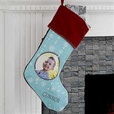 Christmas Snowflake Personalized Photo Stocking - 17444-P