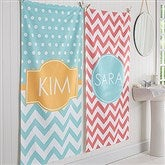 Preppy Chic Personalized Bath Towel - 17453
