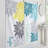 Mod Floral Personalized Bath Towel - 17456