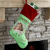 Baby's 1st Christmas Personalized Photo Stocking - 17461