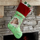 Baby's FirstChristmas Personalized Photo Stockings - 17461