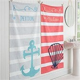 Nautical Personalized Bath Towel - 17464
