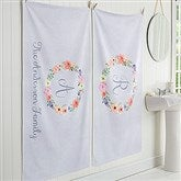 Floral Wreath Personalized Bath Towel - 17476