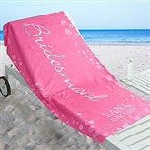 Bridal Brigade Personalized Beach Towel - 17491