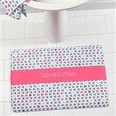Geometric Personalized Memory Foam Bath Mat - 17494